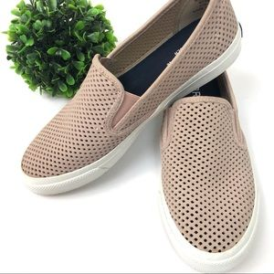 Sperry seaside perforated slip on sneaker in rose